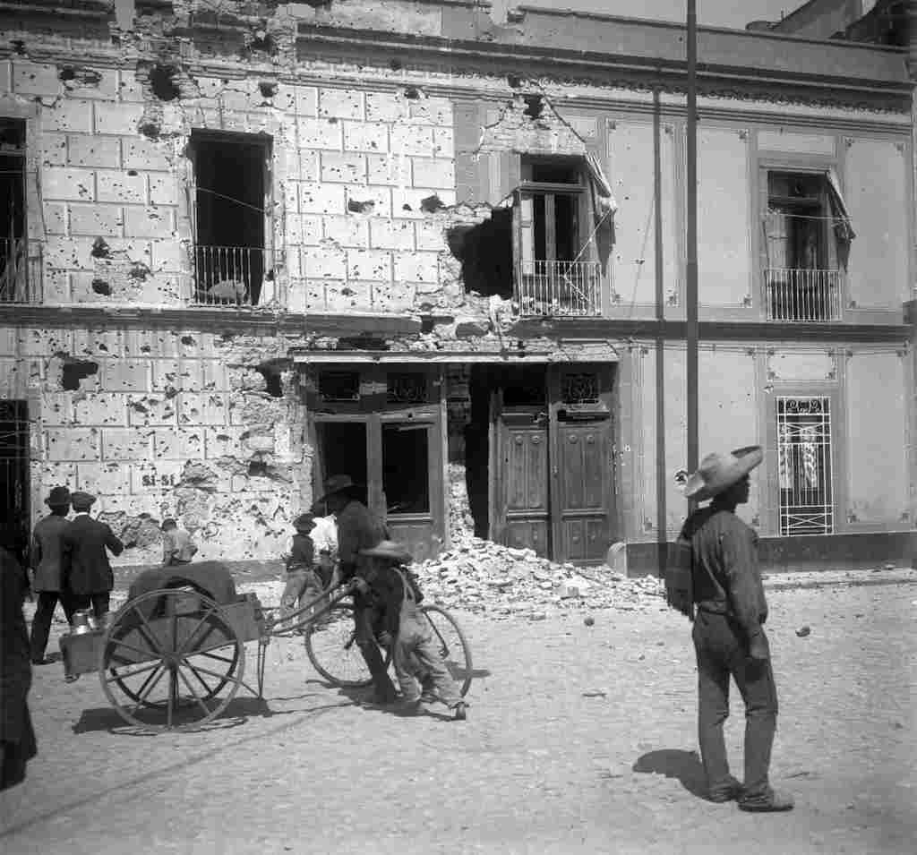Fachada del Edificio del periódico diario Nueva Era. Ciudad de México Atribuida a Antonio Riba Cervantes.