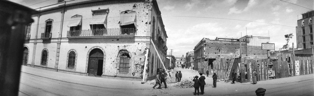 Ciudad de Mexico en la Decena Trágica por Auguste Genin