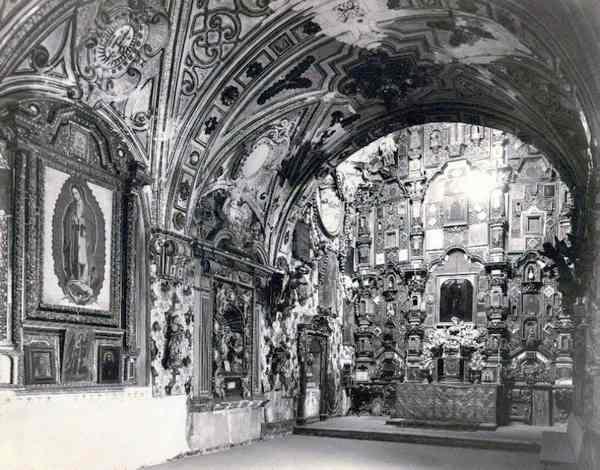 Detalle del interior de la Capilla de San Martin Tepotzotlan